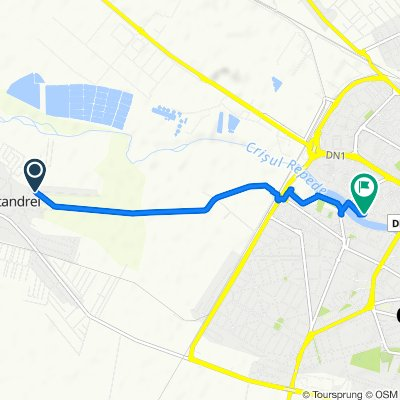 Râturi, Sîntandrei to Strada Sovata 28, Oradea