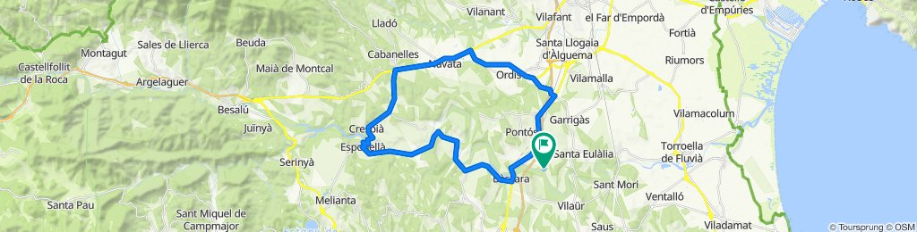 Sporty route in Garrigàs