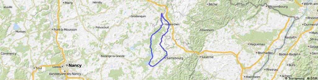 Kanal-Tour  Saaralbe Gondrexange Sarrebourg Sarre Union Saaralbe