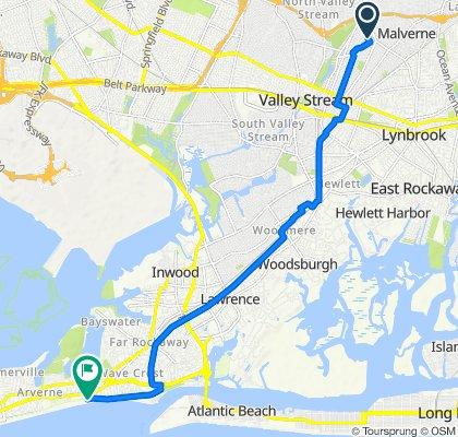 41 Milburn Rd, Valley Stream to Boardwalk, New York