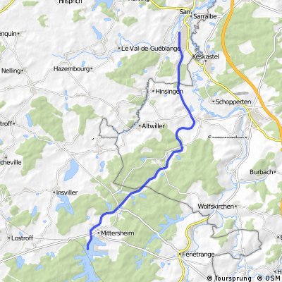Kanal-Tour von Saaralbe nach Mittersheim