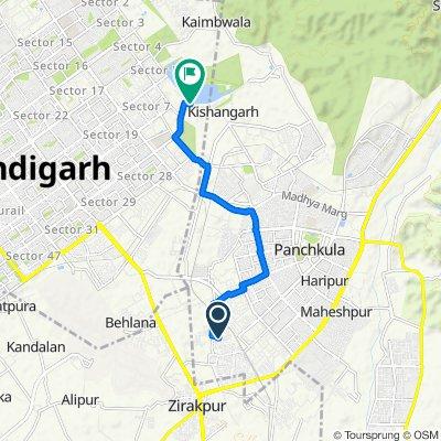 Panchkula to Chandigarh