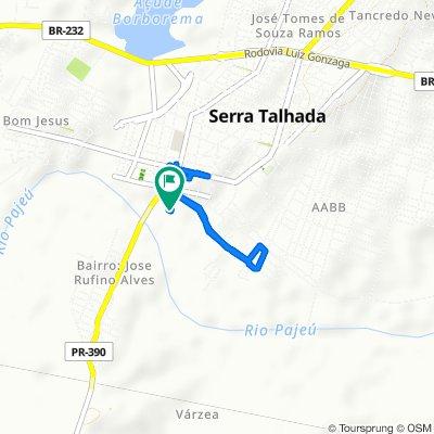 De Travessa Comandante Superior Sg, 36, Serra Talhada a Travessa Comandante Superior Sg, 36, Serra Talhada