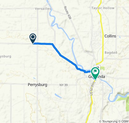 12087 MacKinaw Rd, Perrysburg to 108 Jamestown St, Gowanda
