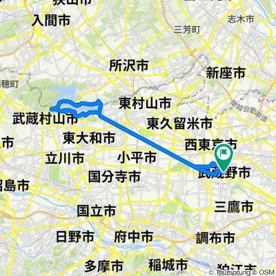 40km Jitensha Dori to and around the reservoir