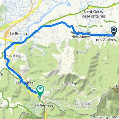 De 496 Route du Moulin Cassanyes, Laroque-des-Albères à D71b, Le Perthus