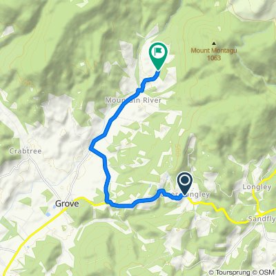 Huon Highway, Lower Longley to 640–734 Mountain River Road, Mountain River