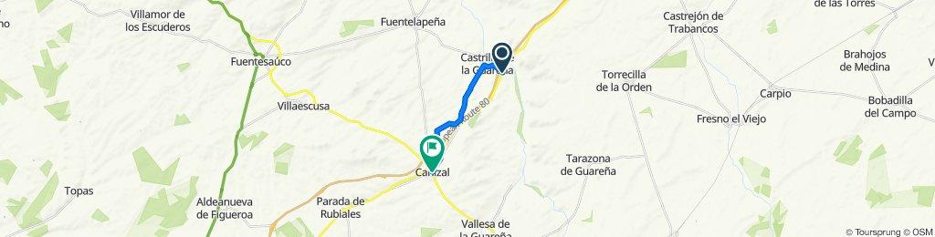 De N-620 197, Castrillo de la Guareña a Calle Valladolid 14, Cañizal