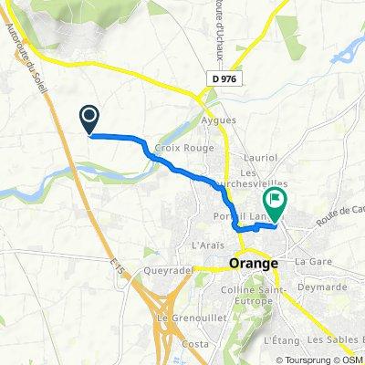 De Chemin des Fourches, Orange à 311 Avenue Guillaume le Taciturne, Orange