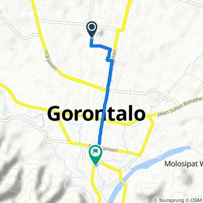 Jalan Samratulangi 235, Kota Selatan to Jalan Wolter Monginsidi 96117, Kecamatan Hulonthalangi