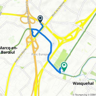 De Allée de la Marque 1 ter, Wasquehal à Rue Marie Curie 21, Wasquehal