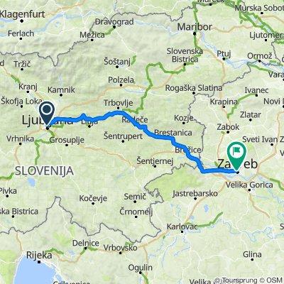 30 Cycling Routes From Ljubljana To Zagreb Centar Bike Tours 2021 Bikemap