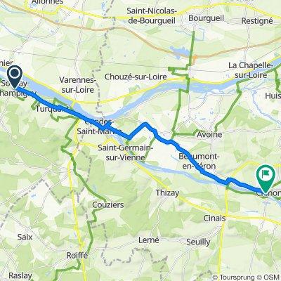 De 5 Route de Champigny, Souzay-Champigny à 1 Rue Carnot, Chinon