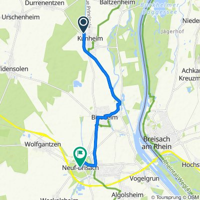 Relaxed route in Neuf-Brisach