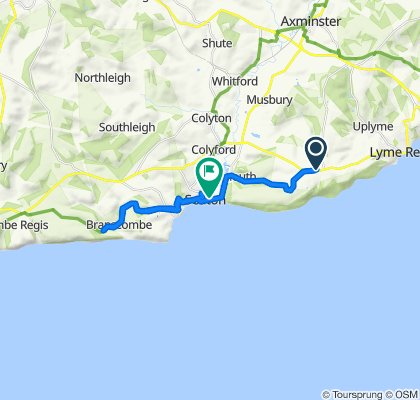 A3052, Lyme Regis to 53B Harbour Road, Seaton