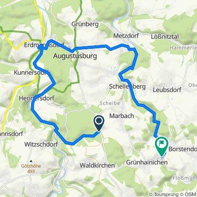 Steady ride in Grünhainichen