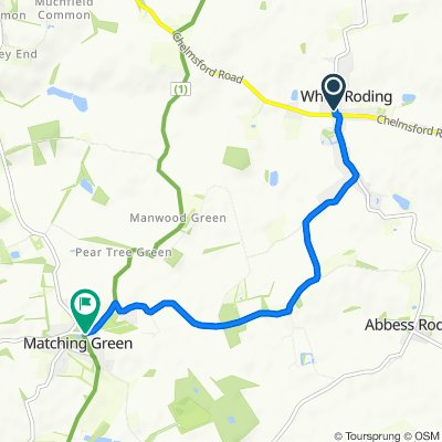 Tauntons, Marks Hall Lane, Dunmow to 1 Potash Road, Harlow