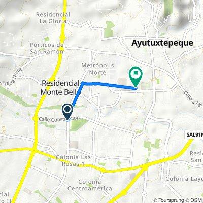 De Avenida Bernal, San Salvador a Calle emergencia seguro social, Mejicanos