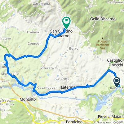 Località Rondine 2A, Arezzo naar Via Giuseppe Verdi 21, San Giustino Valdarno