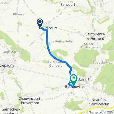 De 14 Rue de la Villeneuve, Heudicourt à 1–3 Rue Achille Boimare, Bernouville