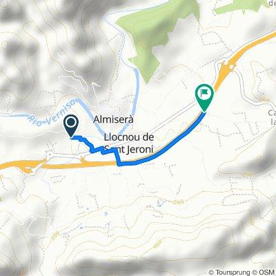De Camí de la Planissa, Llocnou de Sant Jeroni à Camí Real de Castellonet, Almiserà
