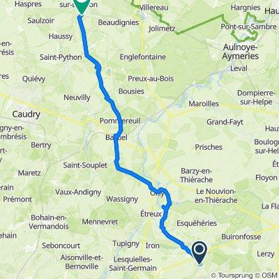 Relaxed route in Saint-Martin-sur-Écaillon