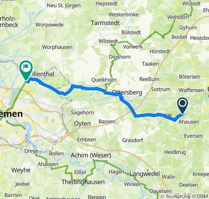 Route von Ahauser Mühle 2–3, Ahausen