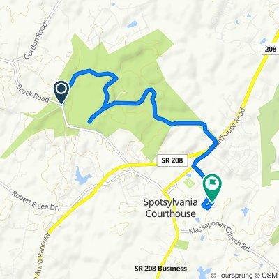 Easy ride in Spotsylvania