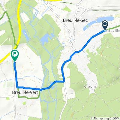 Easy ride in Breuil-le-Vert