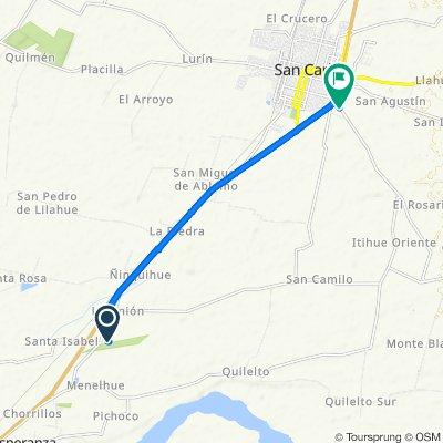 San Carlos a Camino A Nahueltoro, San Carlos