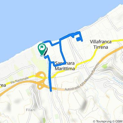 Percorso da Seconda Traversa Via Giampaolo 8/h–11/c, Rometta Marea