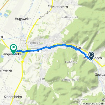 Route nach K5344, Lahr/Schwarzwald