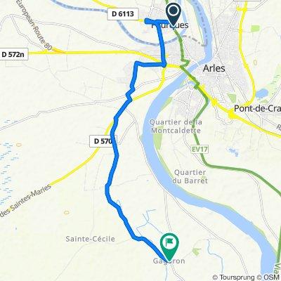Steady ride in Arles