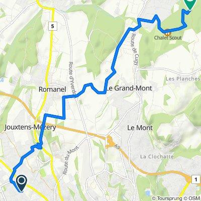 Route von Avenue des Paudex 6, Renens VD