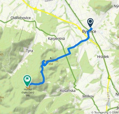 Uphill MTB Beskidy: Bystrzyca - Ostry