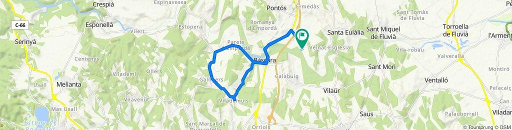 Moderate route in Garrigàs