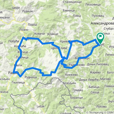 Brus - Brzece - Kopaonik - Josanicka banja - Raska - Rudnica - Kopaonik - Kriva reka - Brus
