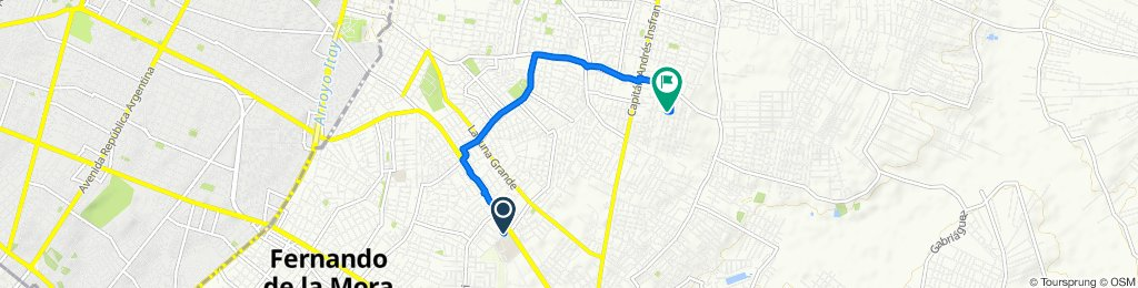 De Coronel Cazal, San Lorenzo a Unnamed Road, Luque