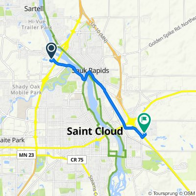 116 Evergreen Dr, Sartell to 1605 Seventh St SE, Saint Cloud