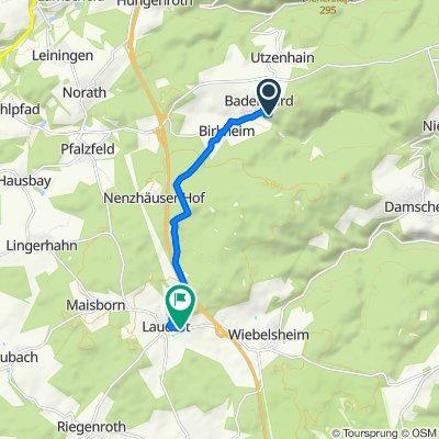 Heckenweg 3, Badenhard nach Mittelstraße, Laudert