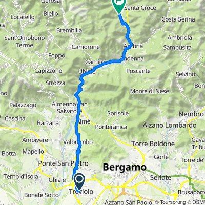 Da Via Andrea Galetti 7, Treviolo a Via San Carlo 50, San Pellegrino Terme