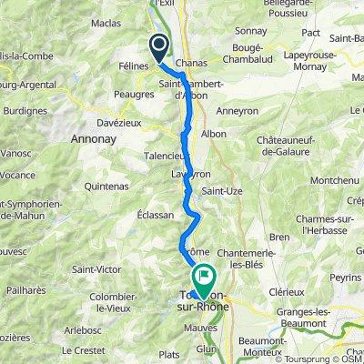 Sablons to Tournon-sur-Rhône