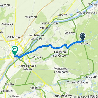 33 Le Château, Chambord nach 11 Rue Sainte-Catherine, Blois