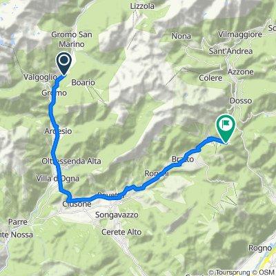Da Via Fonte di Pesa 2–17, Gromo a Via Cantoniera della Presolana, Cantoniera della Presolana