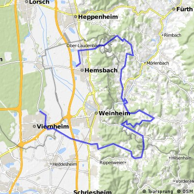 Viernheimer Triathlon - Radstrecke