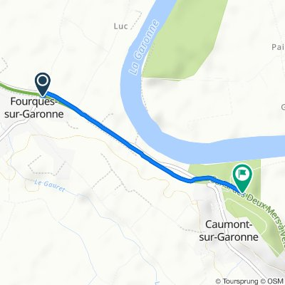 Easy ride in Caumont-sur-Garonne