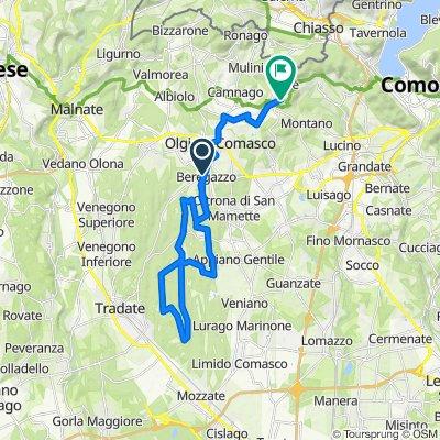 Da Via Alessandro Volta 16, Beregazzo a Via Ragnone 14, Gironico Al Piano