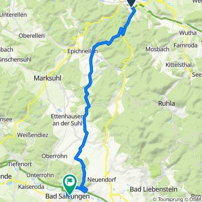 Von Eisenach nach Salzungen über den Rennsteig