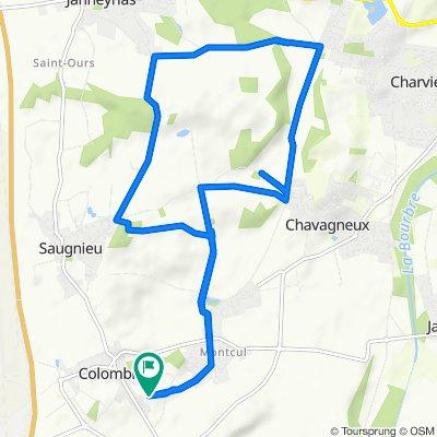 Chemin du Grand Frênes 64, Colombier-Saugnieu to Chemin du Grand Frênes 64, Colombier-Saugnieu