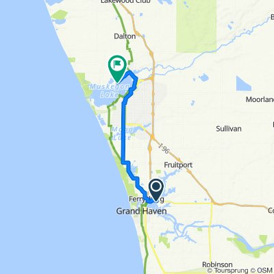 102 W Savidge St, Spring Lake to 821 Ruddiman Dr, North Muskegon